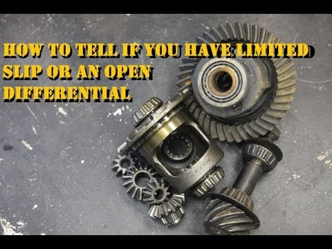 Limited Slip or an Open Differential, what does your vehicle have?