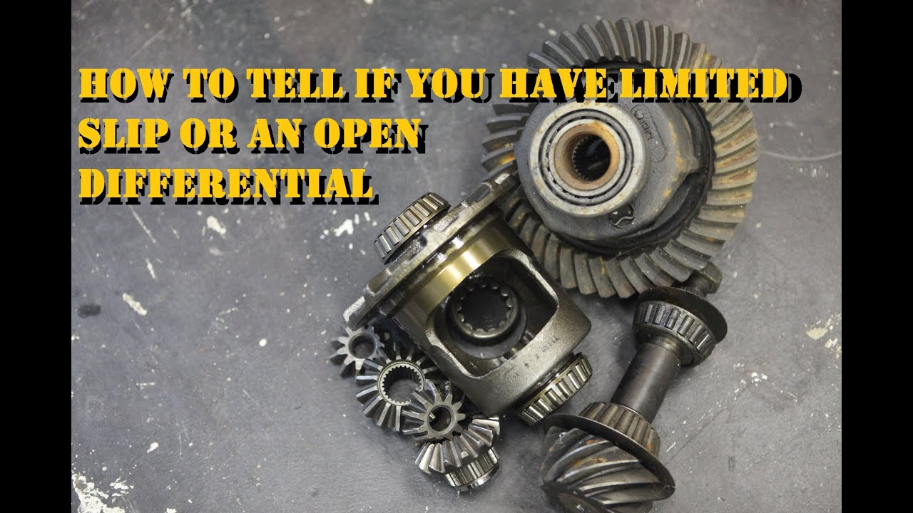 Limited Slip or an Open Differential, what does your vehicle have? |  AnthonyJ350