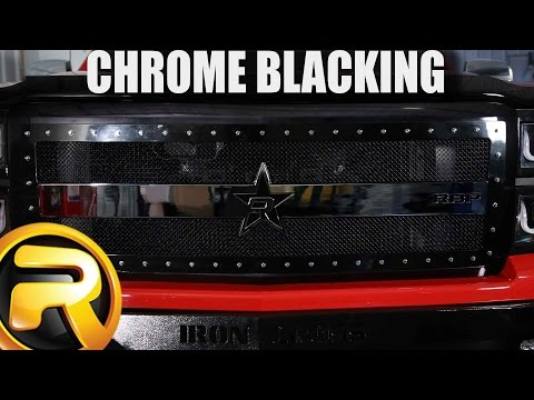 How to Paint Chrome Black