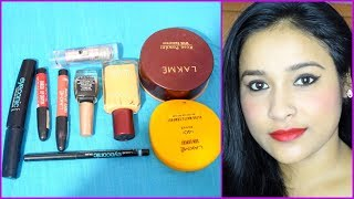 MAKEUP WITH ONLY LAKME PRODUCTS/UNDER 200/-