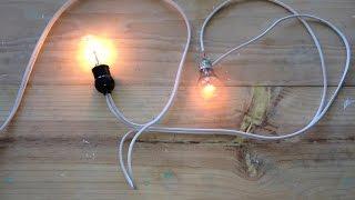 Lampara de prueba para detectar problemas electricos INSTALACIONES ELECTRICAS
