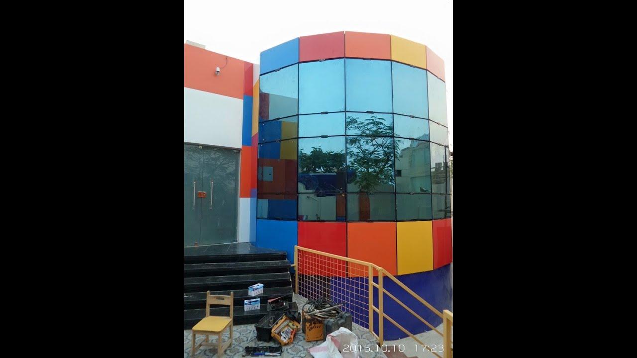 واجهات زجاج زجاج واجهات للفلل و المباني 01221570260 Youtube كرتنوول كرتن وول كلادينج واجهات زجاجية Fun Slide Fun Decor