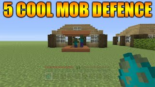 ★Minecraft Xbox 360 + PS3: 5 Cool Ways To Defend Your House From Mobs In Minecraft★
