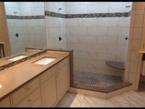 Complete bathroom install start to finish time lapse