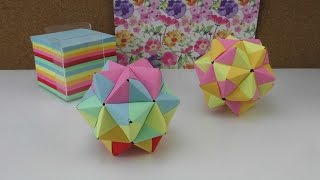 Origami Stern / modulares Origami Anleitung / 3D Stern aus Papier basteln