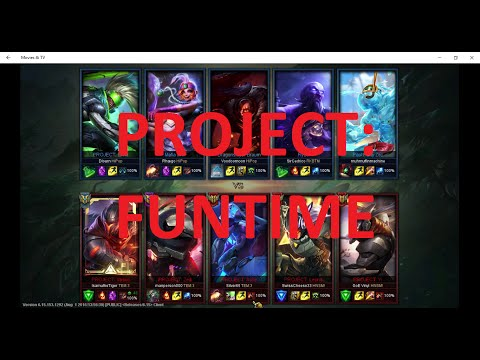 Full Project Skin Team: League of Legends: FULL GAMEPLAY