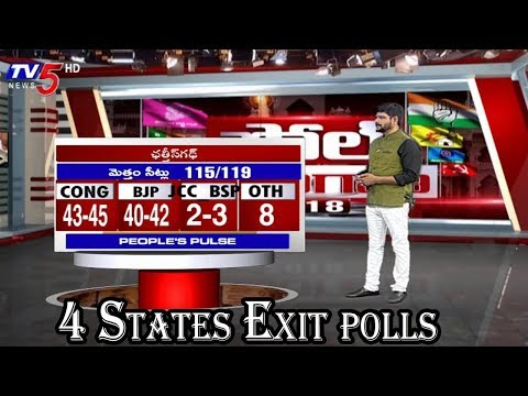 Four States Exit Polls | Elections 2018 | TV5 Murthy | TV5 News