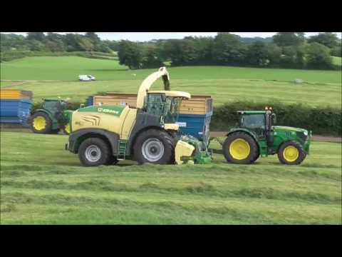 Michael Barrett Silage 2k17 with krone big x 630 on demo 2nd cut silage at salesian agri college