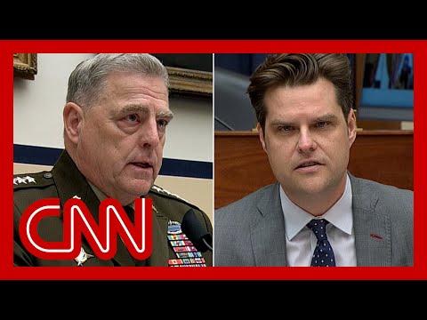 General's response to Matt Gaetz leaves him shaking his head