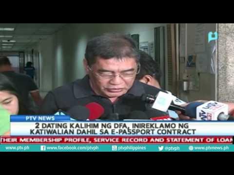 2 Dating Kalihin Ng DFA, Inireklamo Ng Katiwalian Dahil Sa E-passport Contract