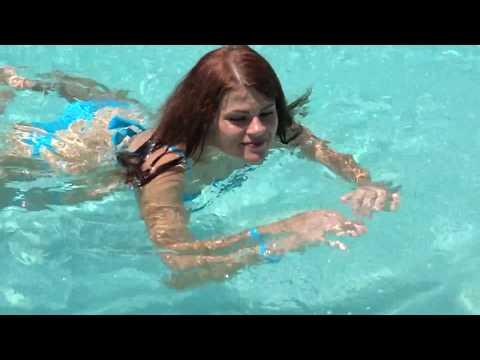 Pool sexy bikini girl Morritt's Tortuga Club in Grand Cayman Islands. September 16-23, 2017