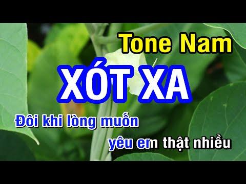 Xót Xa (Karaoke Beat) - Tone Nam | Nhan KTV