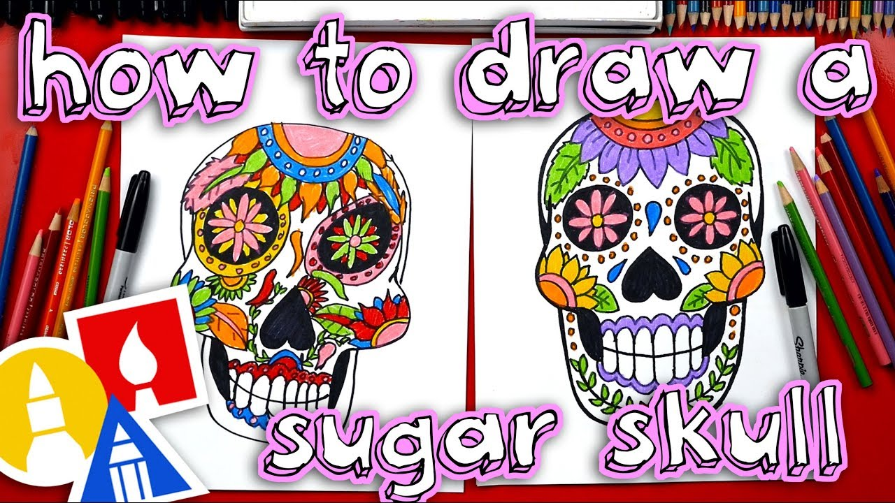 how to draw a sugar skull youtube