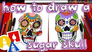 sugar skull drawing lesson