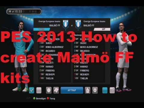 cefed041a8d687 PES 2013 How to Create Malmö FF Kit Home + Away Jerseys - YouTube
