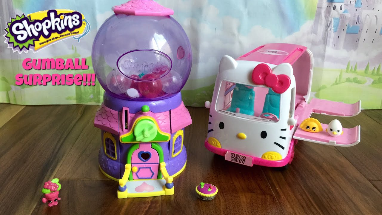 Shopkins Gum Ball Machine toy Surprise Blind Bag Reveal
