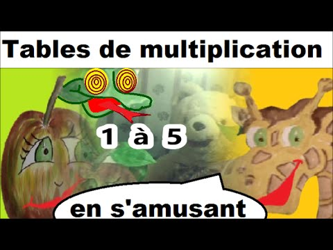 Apprendre les tables de multiplication 1 5 en s amusant for Table de multiplication de 2 a 5
