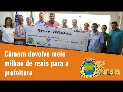 DEVOLUCAO DE DUODÉCIMO - R$ 500MIL
