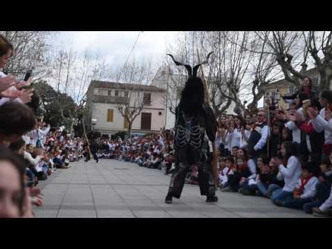 Superball dels dimonis d'Artà a la Plaça. Sant Antoni 2017