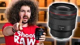 WATCH THIS Before BUYING the $2,700 Canon 85mm f1.2 RF Lens | REVIEW