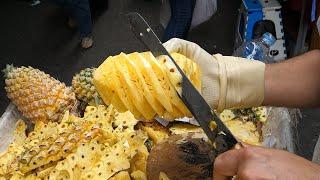 Amazing Pineapple Cutting Skİlls - thai street food