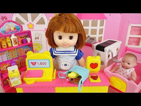 Thumbnail: Baby doli mart register and baby doll food toys play