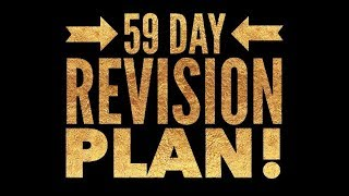 59 Day Revision Plan How I39;d Revise if I Was in Year 11 (amp; how I did 20 yrs ago)