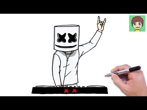 Como Desenhar O Marshmello Dj Passo A Passo Facil Desenho