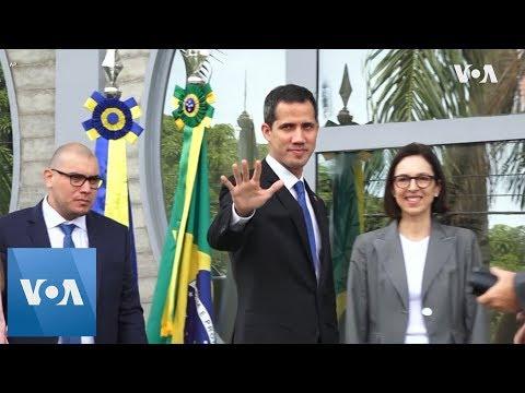 Venezuela's Juan Guaido in Brazil, Meets EU Officials