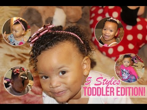 5 simple & fast Natural Hairstyles for Babies & Toddlers! - YouTube