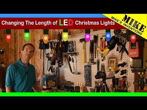changing the length of led christmas lights dont do this