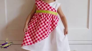 A Simple and Easy Baby Tartan Frock Dress cutiing n Pattern