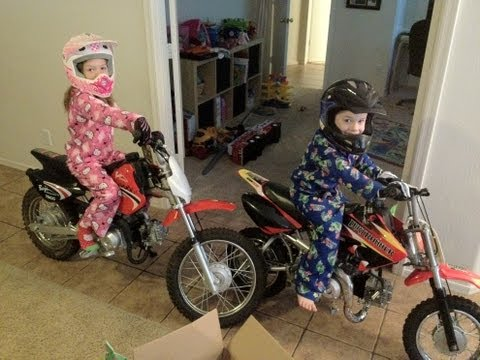 DIRT BIKES FOR CHRISTMAS - Christmas 2011