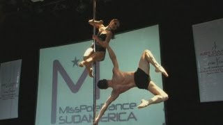 Pole dancing championship in South America