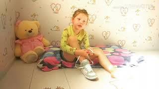 Как научить ребенка завязывать шнурки!