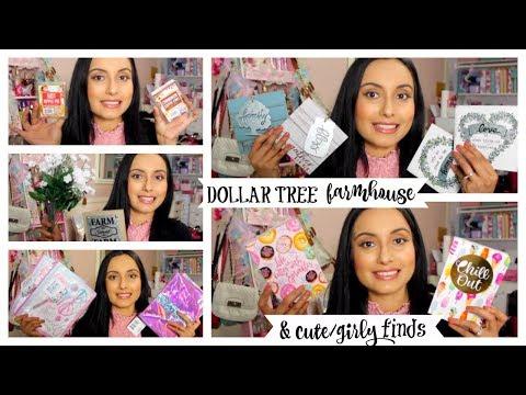 DOLLAR TREE HAUL | BEAUTIFUL FARMHOUSE DECOR & CUTE GIRLY ITEMS!!! NEW FINDS!!! MAY 2019