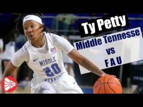 Ty Petty #20 (MTSU) Middle Tennessee vs FAU 3/4/17