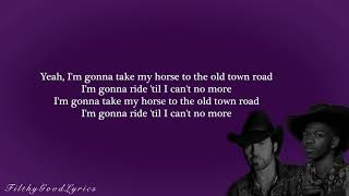 Lil Nas X Ft. Billy Ray Cyrus - Old Town Road (FGL Official Lyrics)