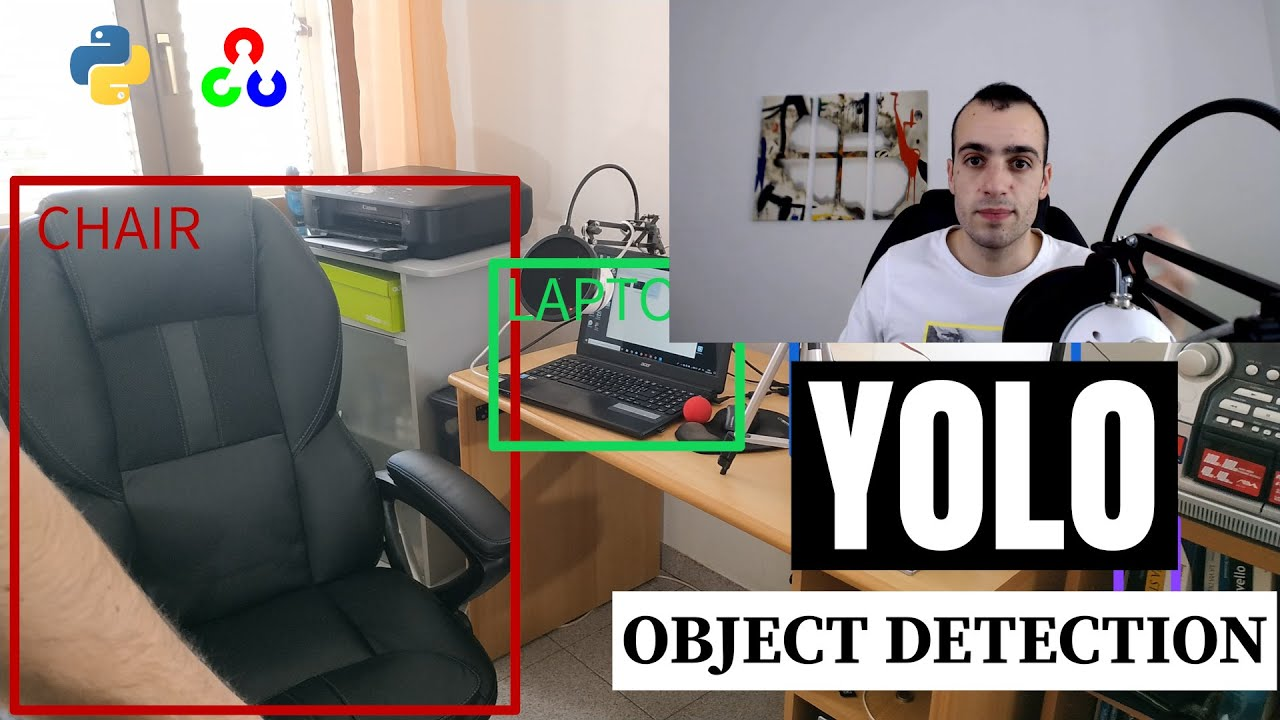 YOLO object detection using Opencv with Python - Pysource