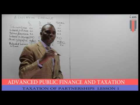 CPA APFT Taxation of Partnerships Lesson 1