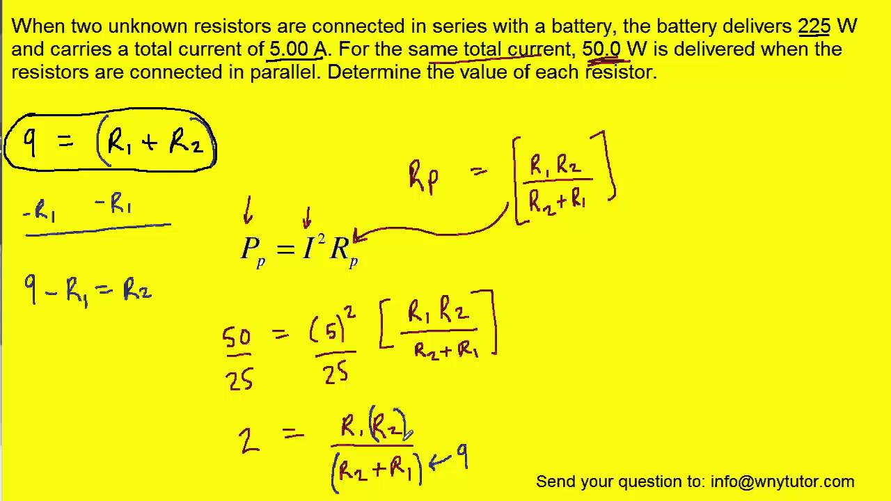 This Series Circuit Shows Four Resistances In Sequence With A Battery