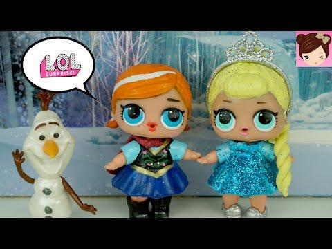 DIY LOL Surprise Dolls Custom Frozen Elsa & Anna Toddlers | Lil Outrageous Littles - Titi Dolls