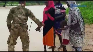 VIDEO Aksi Heroik TNI Menyelamatkan Warga Kongo Dari Terjangan Banjir