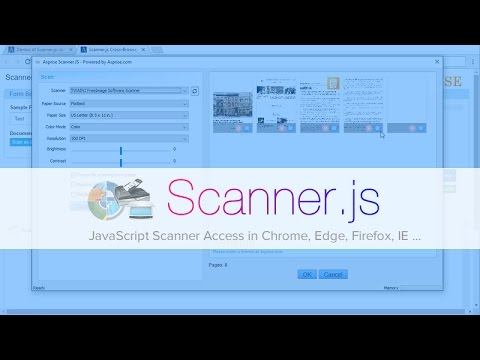 Scanner.Js: JavaScript Web Document Scan From Chrome, Edge, Firefox And IE Browsers