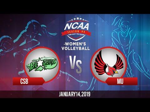NCAA 94 Women's Volleyball: CSB vs. MU | January 14, 2019