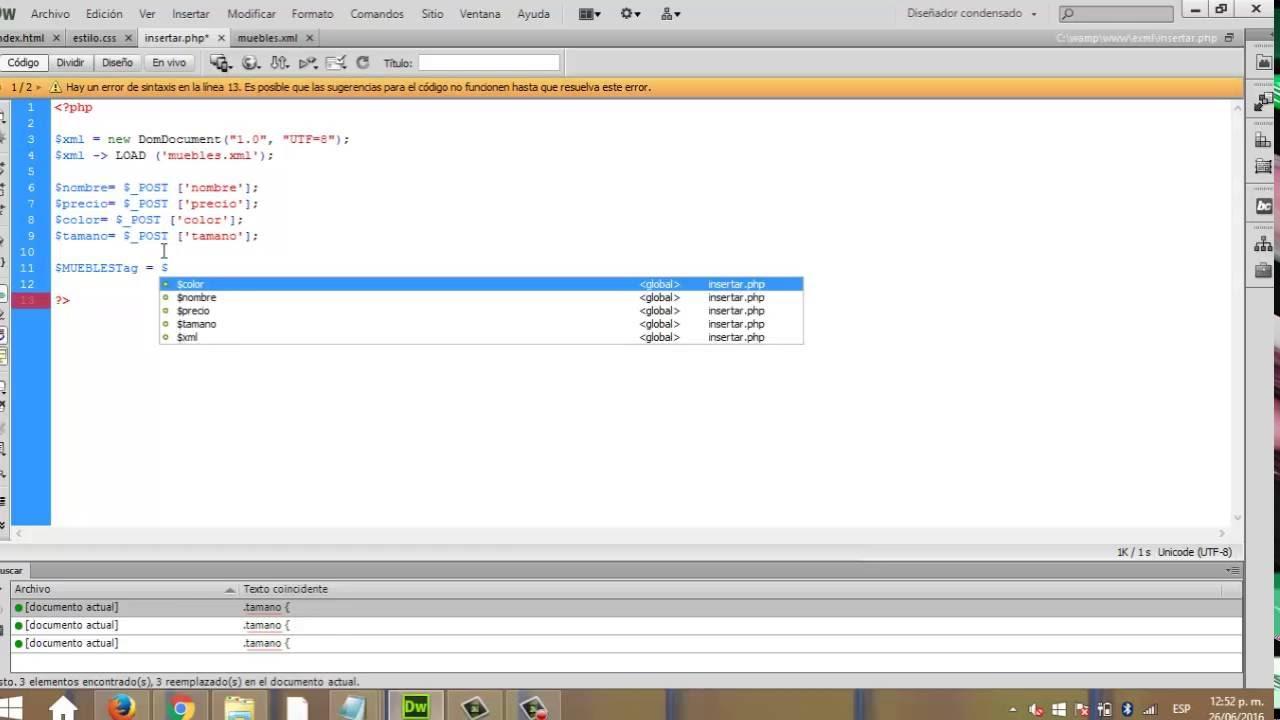 xml agregar datos a xml desde php youtube