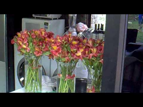 Preparando los arreglos florales para el civil youtube for Arreglos para boda civil