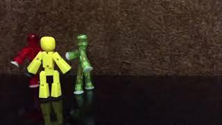 Драка стикботов. Мой первый мультик, я сам его создал)) мне 5 лет