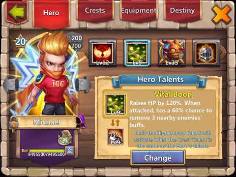 800K Might Hero Altar Review (2/4)   The Heroes   Castle Clash