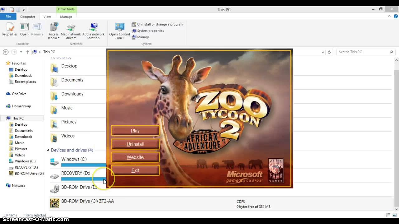 Zoo tycoon play game online.
